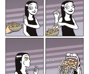 food, funny, and chips image