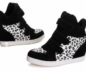 shoes, black n white, and hidden wedge image