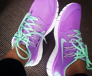 nike, purple, and shoes image