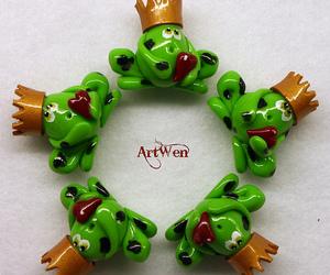 fimo, frog, and handmade image