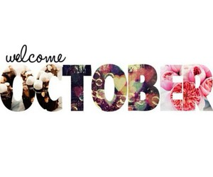 october, welcome, and flowers image