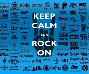rock, band, and keep calm image