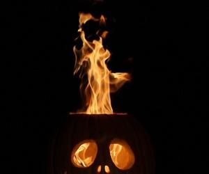 Halloween, fire, and pumpkin image