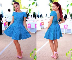 dress, ariana grande, and blue image