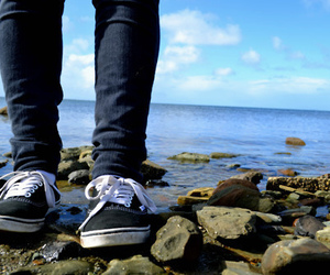 vans, beach, and boy image