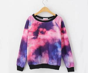 sweater, galaxy, and clouds image
