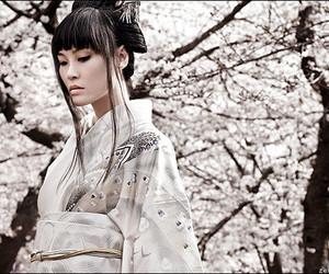 kimono, japan, and woman image