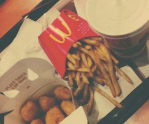 food, French Fries, and mc donalds image