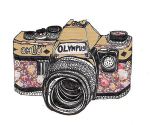 camera, colorful, and drawing image