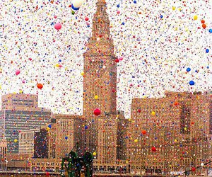 balloons and city image