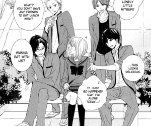 manga black and white and haru matsu bokura image