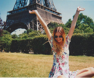 girl, paris, and happy image