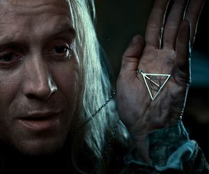 harry potter, deathly hallows, and xenophilius lovegood image