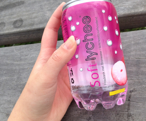 drink, lychee, and pink image