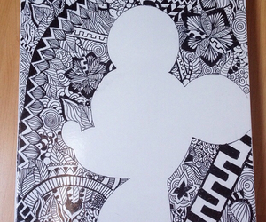 drawing, art, and mickey mouse image