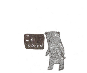 bored and bear image
