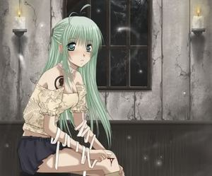 confused, girl, and anime image