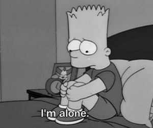 the simpsons, i'm alone, and симпсоны image