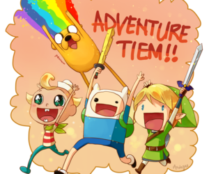 adventure time, link, and finn image