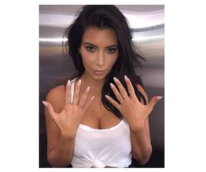 kim kardashian and nails image