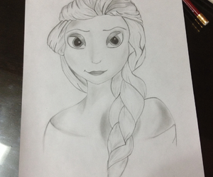 draw, elsa, and frozen image