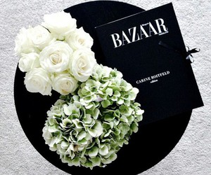 flowers, bazaar, and white image