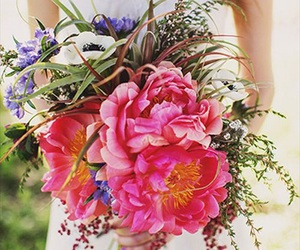bohemian, flowers, and hot pink image