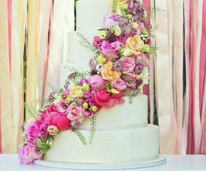 food, cake, and wedding image