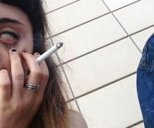 grunge, pale, and smoke image