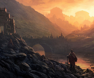 building, city, and fantasy image