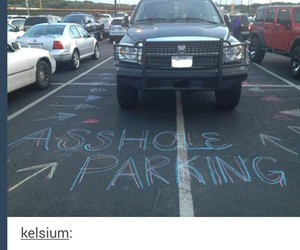 car, funny, and parking image