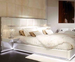 luxury, bedroom, and white image