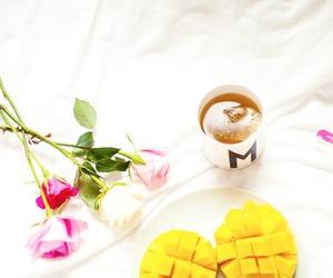 flowers, fruit, and tea image
