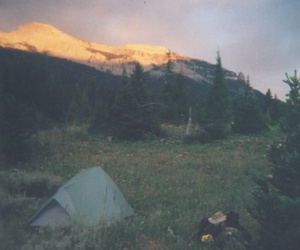hippie, nature, and tent image