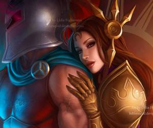game, lol, and leona image