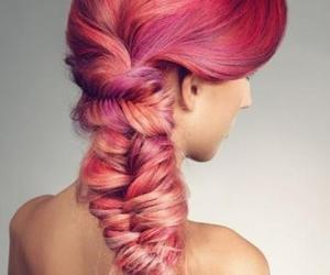 braided, long hair don't care, and cute pink hair image