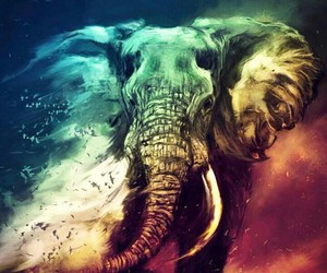 elephant, art, and animal image
