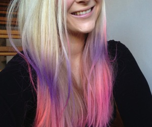 hairstyles, teen, and cute pink ombre hair image