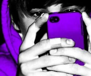 justin bieber, purple, and JB image