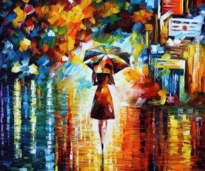 rain, painting, and art image