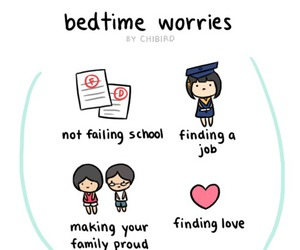 school, worry, and love image