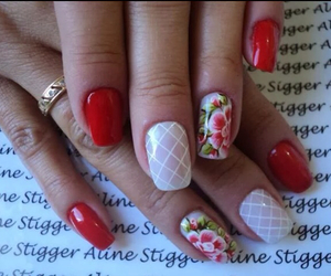 floral, gorgeous, and nails image