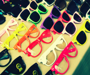 glasses, colorful, and sunglasses image