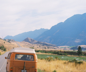 travel, car, and mountains image