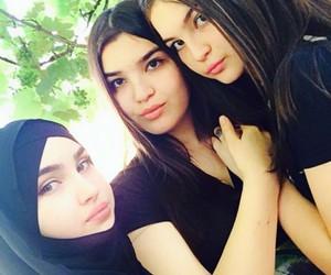 girls, hijab, and makka image