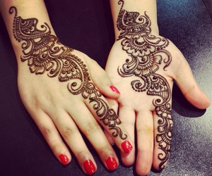 beautiful, henna, and mehndi image