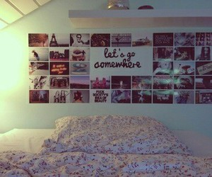 room, bedroom, and picture image