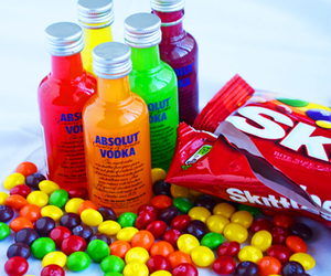 vodka, skittles, and colors image