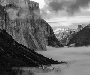 nature, black and white, and landscape image