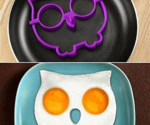 owl, egg, and food image